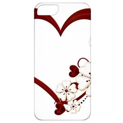 Red Love Heart With Flowers Romantic Valentine Birthday Apple Iphone 5 Classic Hardshell Case