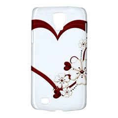 Red Love Heart With Flowers Romantic Valentine Birthday Samsung Galaxy S4 Active (i9295) Hardshell Case by goldenjackal