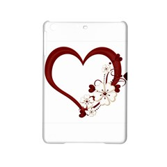 Red Love Heart With Flowers Romantic Valentine Birthday Apple Ipad Mini 2 Hardshell Case by goldenjackal