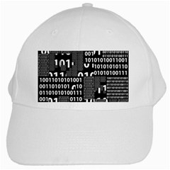 Beauty Of Binary White Baseball Cap