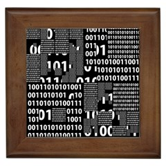 Beauty Of Binary Framed Ceramic Tile by StuffOrSomething