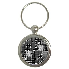 Beauty Of Binary Key Chain (round) by StuffOrSomething