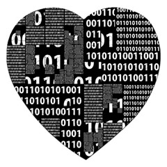 Beauty Of Binary Jigsaw Puzzle (heart) by StuffOrSomething