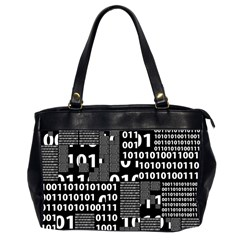 Beauty Of Binary Oversize Office Handbag (two Sides)