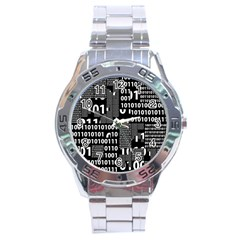 Beauty Of Binary Stainless Steel Watch by StuffOrSomething