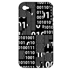 Beauty Of Binary Apple Iphone 4/4s Hardshell Case (pc+silicone)