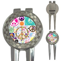 Peace Collage Golf Pitchfork & Ball Marker by StuffOrSomething