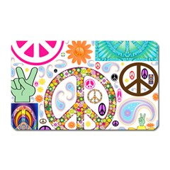 Peace Collage Magnet (rectangular) by StuffOrSomething