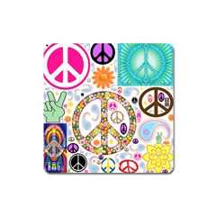 Peace Collage Magnet (square) by StuffOrSomething