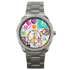 Peace Collage Sport Metal Watch