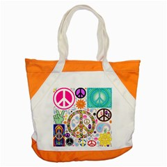 Peace Collage Accent Tote Bag by StuffOrSomething
