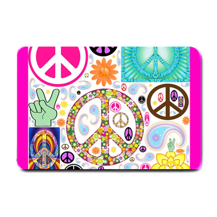 Peace Collage Small Door Mat