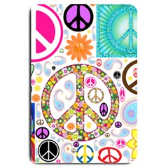 Peace Collage Large Door Mat