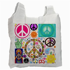 Peace Collage Recycle Bag (one Side) by StuffOrSomething