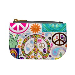 Peace Collage Coin Change Purse by StuffOrSomething