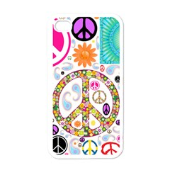 Peace Collage Apple Iphone 4 Case (white)