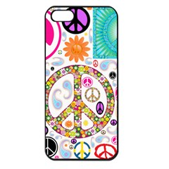 Peace Collage Apple Iphone 5 Seamless Case (black) by StuffOrSomething