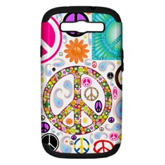 Peace Collage Samsung Galaxy S Iii Hardshell Case (pc+silicone)