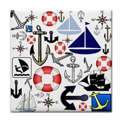 Nautical Collage Ceramic Tile by StuffOrSomething