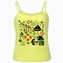 Nautical Collage Yellow Spaghetti Tank by StuffOrSomething