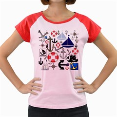 Nautical Collage Women s Cap Sleeve T Shirt (colored) by StuffOrSomething