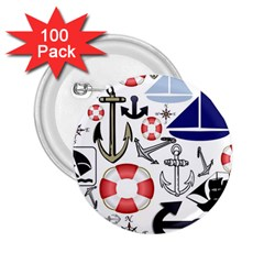 Nautical Collage 2 25  Button (100 Pack) by StuffOrSomething