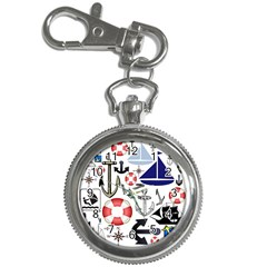 Nautical Collage Key Chain & Watch by StuffOrSomething