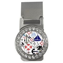 Nautical Collage Money Clip (cz) by StuffOrSomething