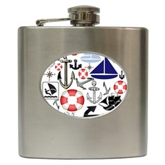 Nautical Collage Hip Flask by StuffOrSomething