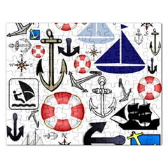 Nautical Collage Jigsaw Puzzle (rectangle) by StuffOrSomething