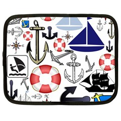 Nautical Collage Netbook Sleeve (large) by StuffOrSomething