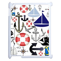 Nautical Collage Apple Ipad 2 Case (white) by StuffOrSomething