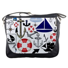 Nautical Collage Messenger Bag by StuffOrSomething