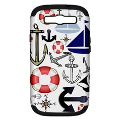 Nautical Collage Samsung Galaxy S Iii Hardshell Case (pc+silicone) by StuffOrSomething