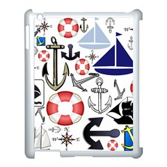 Nautical Collage Apple Ipad 3/4 Case (white) by StuffOrSomething