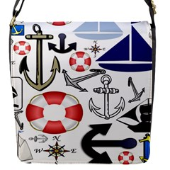Nautical Collage Removable Flap Cover (small) by StuffOrSomething