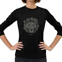 Lion King! Women s Long Sleeve T Shirt (dark Colored) by Contest1865812