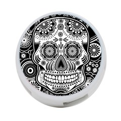 Sugar Skull 4 Port Usb Hub (two Sides) by Ancello