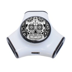 Sugar Skull 3 Port Usb Hub by Ancello
