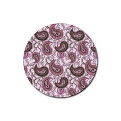 Paisley In Pink Drink Coaster (round) by StuffOrSomething