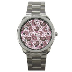 Paisley In Pink Sport Metal Watch by StuffOrSomething
