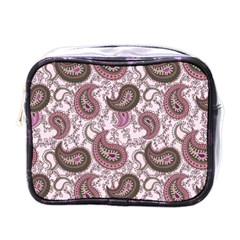 Paisley In Pink Mini Travel Toiletry Bag (one Side) by StuffOrSomething
