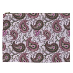 Paisley In Pink Cosmetic Bag (xxl) by StuffOrSomething
