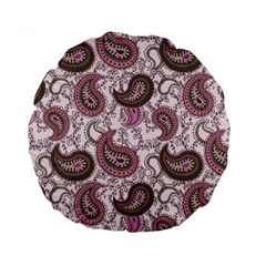 Paisley In Pink 15  Premium Round Cushion  by StuffOrSomething