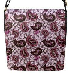 Paisley In Pink Flap Closure Messenger Bag (small)