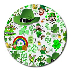 St Patrick s Day Collage 8  Mouse Pad (round) by StuffOrSomething