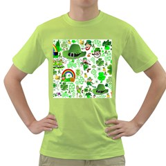 St Patrick s Day Collage Men s T Shirt (green) by StuffOrSomething