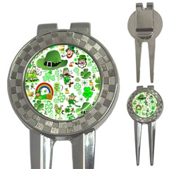 St Patrick s Day Collage Golf Pitchfork & Ball Marker by StuffOrSomething