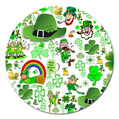 St Patrick s Day Collage Magnet 5  (round) by StuffOrSomething