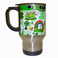 St Patrick s Day Collage Travel Mug (white) by StuffOrSomething